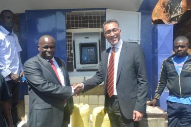 Eng. Gichuki & Rasull of Grundfos at Aqtap machine launch