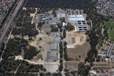 Water Corporation Aerial photo of Groundwater Replenishment Scheme Perth